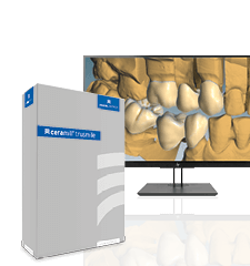 [Translate to 中文:] Screen displaying CAD software module Ceramill TruSmile